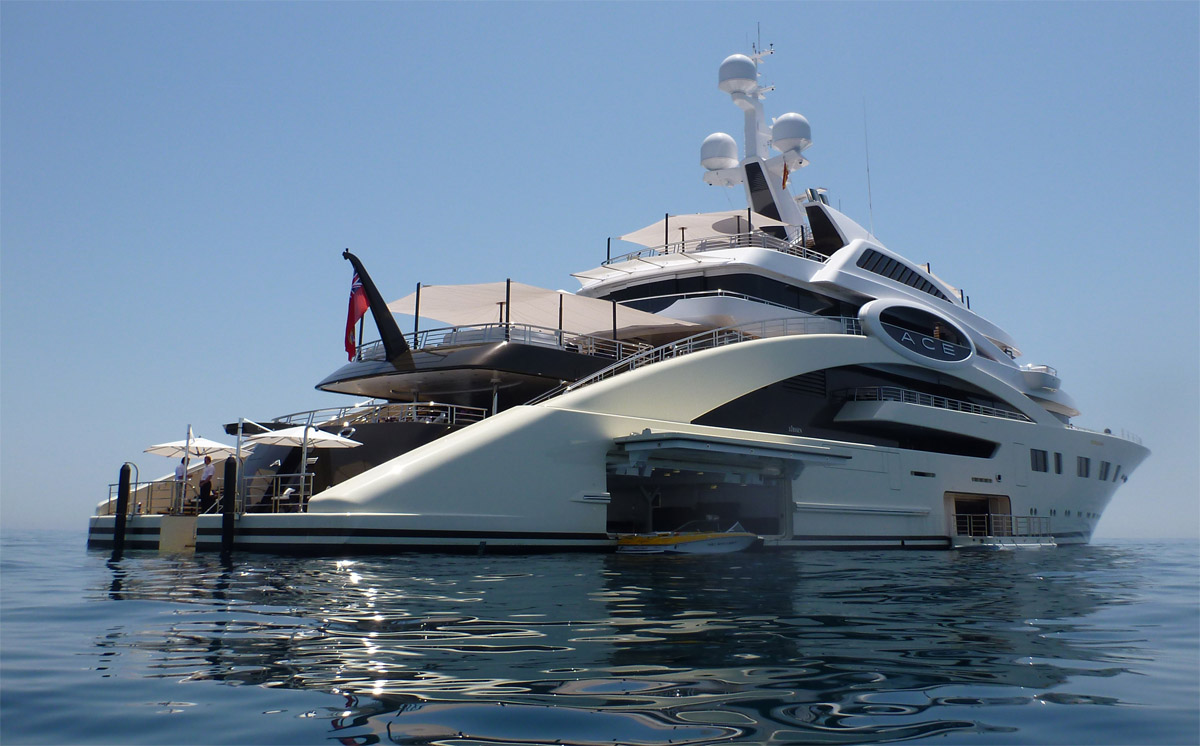 The Most Beautiful Celebrity Yachts Ace Yacht Back Puerto Banus