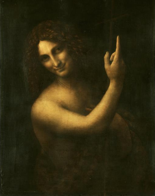 Saint John the Baptist, 1513-1515 Oil on wood 69 × 57 in 175.3 × 144.8 cm Source: Wikimedia Commons / Public Domain Musée du Louvre, Paris
