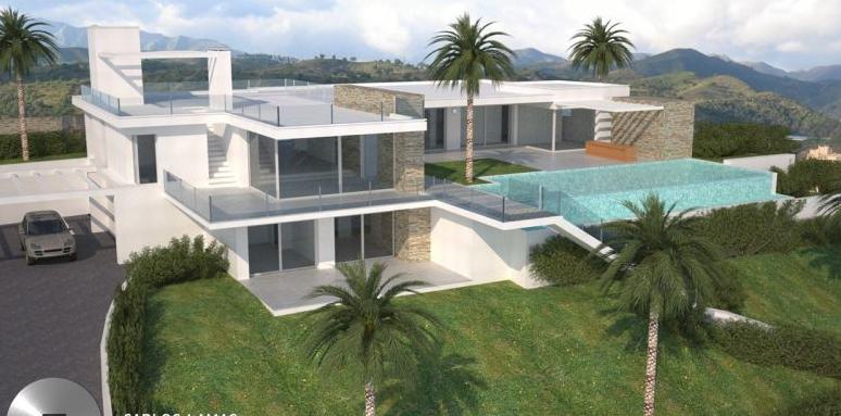 Marbella nouvelle renversante 5 lit villa moderne avec de for Exterieur villa moderne