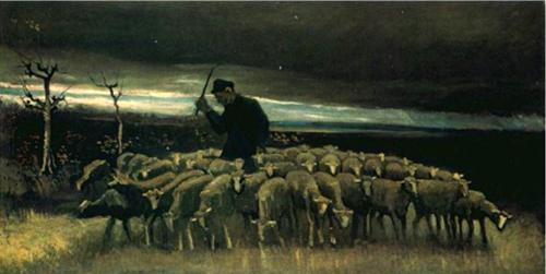 Shepherd, Vincent van Gogh, 1884