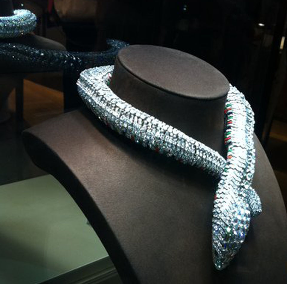 Maria Félix By Cartier +2000 brilliants snake necklace