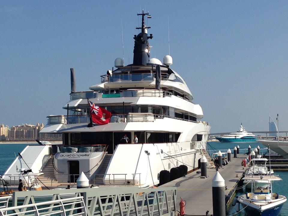 88 Meter Super Yacht Quattroelle Now Owned By Sheikh